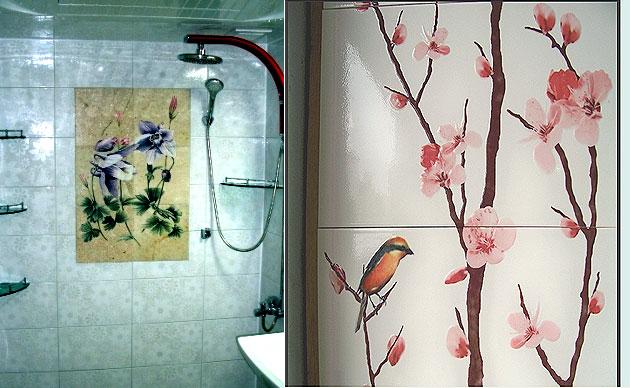 그림타일, 타일채색벽화